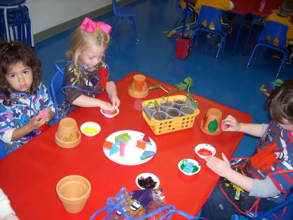 Art Explosions at Ready Set Grow Pre-school in Nassau County!